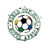 World cup stamp. Football world cup 2012 rubber stamp with South Africa flag colors Stock Image