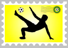 World cup stamp. South africa 2010 world cup stamp vector illustration