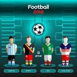 World Cup Team Scoreboard. Argentina, Belgium, Iran, United Stat Stock Photo