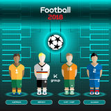 World Cup Team Scoreboard. Australia, Germany, Ivory Coast, Slov Royalty Free Stock Photo