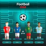 World Cup Team Scoreboard. Austria, France, Ghana, Uruguay. Royalty Free Stock Photography