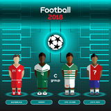 World Cup Team Scoreboard. Switzerland, Nigeria, Cote d'Ivoire, Stock Images