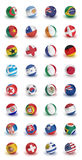 World Cup Teams. Soccer World Cup 2010 participating countries - complete set of soccer balls of all competing nations Royalty Free Stock Photography