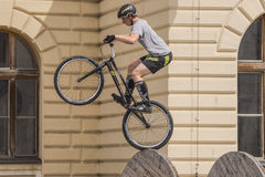 World Cup in Trial bicycles Stock Image