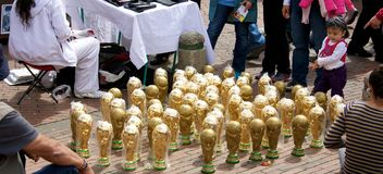 World Cup trophies Royalty Free Stock Photo
