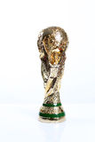 World cup trophy. Against a white background royalty free stock image