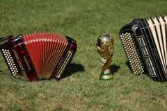World cup trophy and bayan Stock Photo