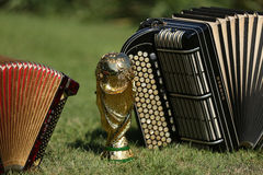 World cup trophy and bayan Royalty Free Stock Photography