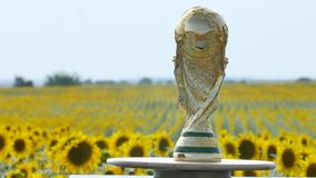 World cup trophy stock video footage