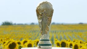 World cup trophy stock footage
