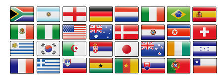 World cup vector flags Stock Photos