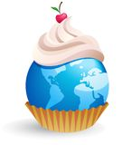 World cupcake Royalty Free Stock Photo
