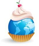 World cupcake vector illustration