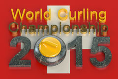World Curling Championship 2015 Switzerland. Concept stock illustration