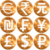 World currecy symbols Stock Image