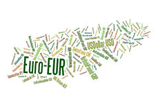 World Currencies. Word cloud of the money names around the world and their ISO codes Stock Photos
