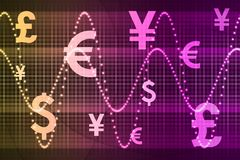 World Currencies Business Abstract Background. Color World Currencies Business Abstract Background Wallpaper Royalty Free Stock Photos