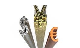 World Currencies 3d rendering Stock Image