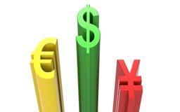 World Currencies 3d rendering Stock Photo