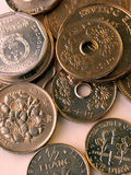 World currency!. Image of some coins from Asia, North America, and Europe Royalty Free Stock Photography