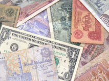 World Currency. Old and new Royalty Free Stock Photography