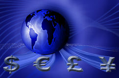 World currency business Royalty Free Stock Images