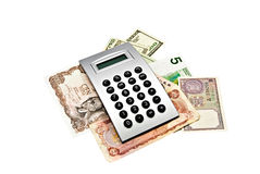 World Currency With Calculator Royalty Free Stock Photo