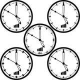 World currency clock vector Stock Photos