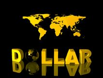 World currency, dollar. Royalty Free Stock Image