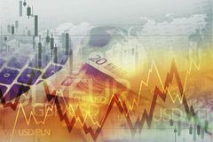 World Currency Forex Trade. Currency Trading Conceptual Graphic Stock Images