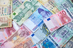 World Currency Notes Stock Image