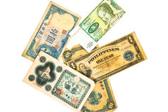 World Currency / Old royalty free stock photography