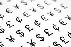 World currency sign royalty free stock photo