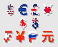 World currency signs Royalty Free Stock Photo