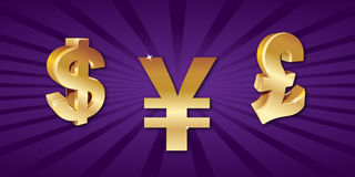 World currency symbols Stock Photography