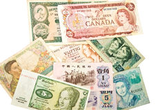 World Currency / Women Royalty Free Stock Photography