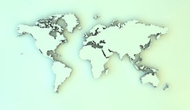 World 3d map Royalty Free Stock Photography