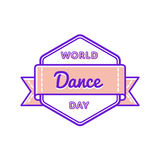 World Dance day greeting emblem Stock Photos