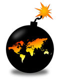 World in danger. Like a bomb waiting to explode Stock Photography