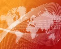 World data transfer orange Stock Image
