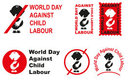 World day against child labour Stock Photo