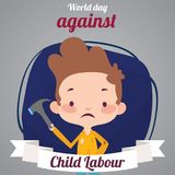 World Day Against Child Labour, 12 June. Stock Photo