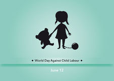 World Day Against Child Labour vector Stock Photo