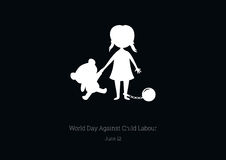 World Day Against Child Labour vector Stock Photography