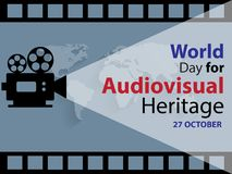 World Day For Audiovisual Heritage Background. World Day For Audiovisual Heritage on October 27 Background Royalty Free Stock Photo