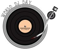 World Day DJ. March 9th World Day DJ. Vector illustration Stock Image
