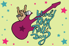 World day of rock Royalty Free Stock Photos