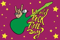 World day of rock Stock Images