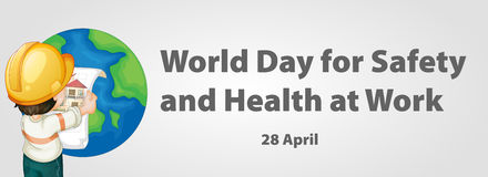 World day for safety and health at work poster Stock Photos