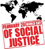 World day of social justice Royalty Free Stock Photo